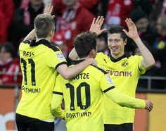 The best Trio in the world: Marco Reus, Mario Götze and Robert Lewandowski.