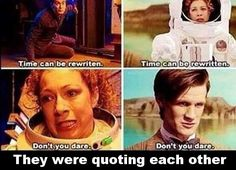 River Song and the Doctor were quoting eachother