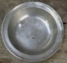 1831 Antique German Pewter Bowl Engraved MB Hendrickin Angel Scale Hallmark ~NR