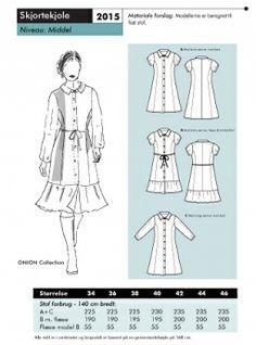 Sewing pattern shirt-dress