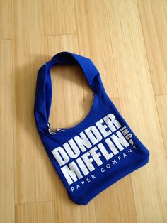 Dunder Mifflin upcycled tshirt purse on Etsy, $20.00
