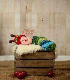Crochet Pattern for Hungry Caterpillar https://www.etsy.com/listing/165757139/halloween-crochet-pattern-hungry?ref=af_shop_favitem @Matt Valk Chuah World of Eric Carle