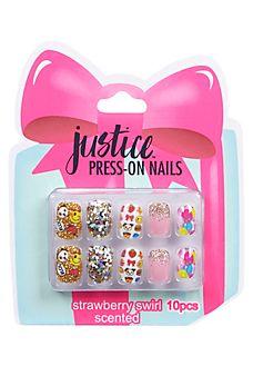Present Glitter Press On Nails