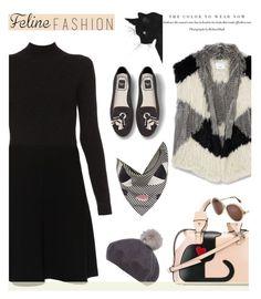 """Feline Fashion"" by slavicabojanovic ❤ liked on Polyvore featuring Vince, N°21, Lulu Guinness, Victoria Beckham, Paule Ka, Helen Moore and catstyle"