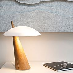 Haiku Table Lamp - Birch/White - by Eero Aarnio #MONOQI