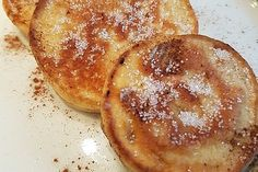 Apfelküchle Pancakes, Food And Drink, Snacks, Breakfast, Desserts, Recipes, Dessert Ideas, Sweet Recipes, Pies