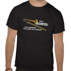 What were you thinking? Funny trombone music / marching band t-shirts