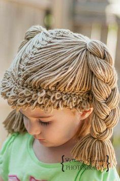 Cabbage patch wig hat cabbage patch kid wig for baby cabbage patch hat cabbage patch crochet hat cabbage patch baby costume 0 24 mo – Artofit Crochet Kids Hats, Crochet Cap, Crochet Beanie, Crochet Crafts, Crochet Clothes, Knitted Hats, Crochet Wigs, Crochet Children, Cabbage Patch Hat