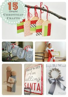 15 Simple Christmas Craft Ideas from www.SomewhatSimple.com #christmas #crafts