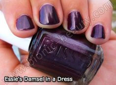 "Essie ""Damsel in a Dress"" (deep purple nail polish)"