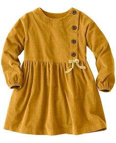 Girls Pincord Peasant Dress by Hanna Andersson Girls Fall Dresses, Kids Outfits Girls, Toddler Girl Outfits, Toddler Dress, Cute Outfits, Baby Dresses, Toddler Girls, Baby Girls, Little Girl Fashion