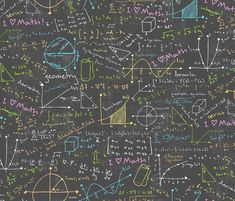 Math Lessons fabric by robyriker on Spoonflower - custom fabric