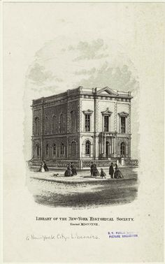 From NYPL's Blogs - Special Library in Focus: The New-York Historical Society Library http://www.nypl.org/blog/2012/07/23/special-library-focus-new-york-historical-society