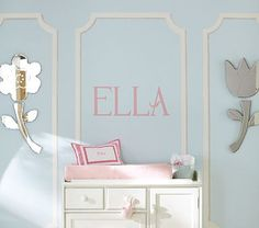 Letter decals as an alternate to painting or wooden letters (even though I love wooden letters!)