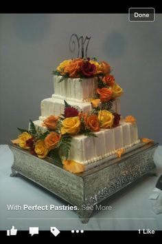 Golden anniversary cake cakes pinterest golden anniversary wedding cake on my business cards pretty roses reheart Image collections
