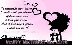 Cute and Romantic Happy Birthday wishes for Boyfriend, husband, fiance, lover. Picture images greetings ecards for biyfriend, husband