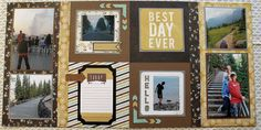 12x12 2-page Layout TODAY We R Memory by AdventureScrapbooks