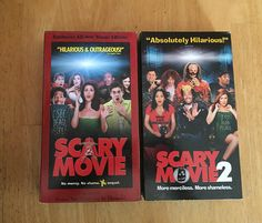 Lot of 2 Scary Movie 1 and 2  VHS