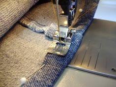 Edredón, de punto, Ejecutar, Cosa: Un Tutorial - Hemming Jeans - una técnica quilters