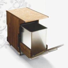 Poubelle publique / en bois / à roulettes / contemporaine TRAMOGGIA WALL TECFRIGO SPA