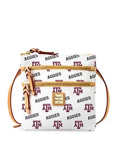 The perfect handbag to take with you for the next Aggies tailgate. Dooney & Bourke Texas A&M Triple Zip Crossbody.