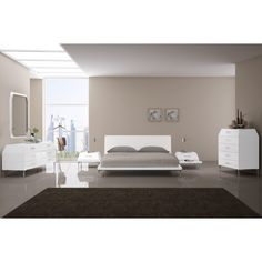 Exciting Modern White Adelina Bed https://www.studio9furniture.com/bedroom/headboards-and-frames/adelina-bed-king-queen  This queen or king size bed offers a high gloss finish in white or taupe. This works well with any home furnishings in your bedroom.