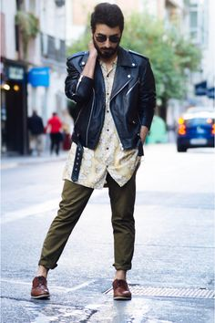 Perfecto style leather jacket