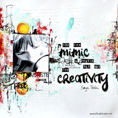 Bonjour par ici ! Une petite page a vous montrer aujourd'hui avec des tampons L'Encre et L'image et des couleurs qui me plaisent en ce moment :o)