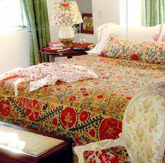 #ElleDecor #KathrynIreland (this is one of my favorite textiles ever) #bohemian
