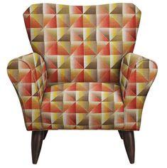 Jessie Chair W/ Immortal Sienna Fabric