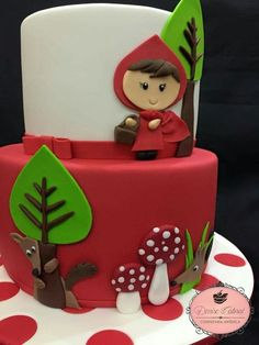 Little Girl Birthday, Birthday Cake Girls, 3rd Birthday, Cupcake Cakes, Fondant Cakes, Red Riding Hood Party, Birthday Cake Decorating, Noel Christmas, Occasion Cakes