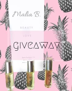 PERFUME OIL GIVEAWAY – MALIA B.  The three scents in the Malia B. line are all ultra-feminine, uplifting, and unique.  Luv Perfume Oil has notes of white flowers, gardenias and vanilla.  Soul Perfume Oil has papaya, pineapple, and creamy coconut notes.  Malia Perfume Oil has jasmine and florals with a fresh top green note.  To win a perfume oil of your choice from Malia B.. click the photo and follow the link's simple entry instructions xoxo