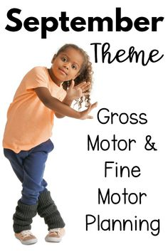 September themed fine motor and gross motor activities. Check out all of the different games and activities as well as themes to incorporate motor planning for the month of September. Such a great resource!