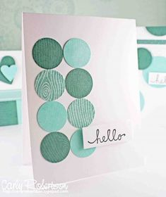You could make a card just like this. Use paint color samples or different shades of turquoise paper.