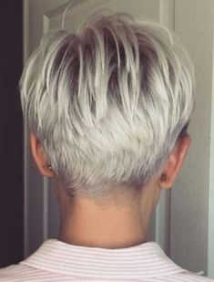 Awesome 36 Astonishing Back View Short Pixie Haircut Hairstyle Ideas To Try Asap Super Short Hair, Short Grey Hair, Short Hair Cuts For Women, Short Hair Styles, Hairstyles Haircuts, Cool Hairstyles, Hairstyle Ideas, Short Hair Back View, Crop Hair