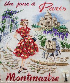 les brodeuses parisiennes, парижские вышивальщицы, атмосфера творчества, veronique enginger, один день в Париже, Монмартр