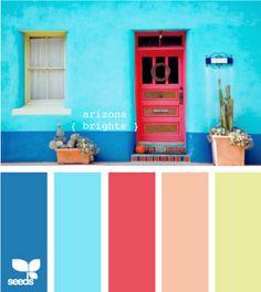 Bright color pallette