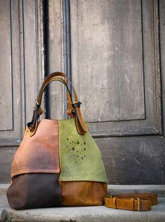 torebka skórzana ręcznie robiona ALICJA 4 KOLORY - ladybuqartstudio - Torebki skórzane