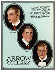 Leyendecker, illustration art for Arrow Collars. Vintage Advertisements, Vintage Ads, Vintage Images, Vintage Clothing, Jc Leyendecker, Arrow Shirts, Tv Ads, Traditional Paintings, Illustration Art