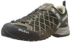 Salewa Men's MS Wildfire Vent Approach Shoe, Black/Juta, 10 M US | Hiking Shoes