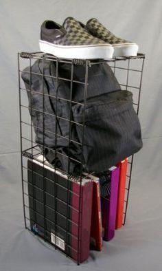 use the adjustable double locker shelf to keep your school or gym rh pinterest com Locker Accessories DIY Locker Shelves