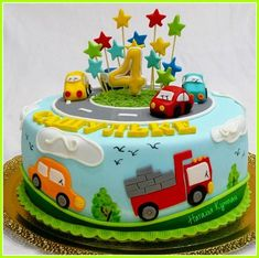 26 Trendy Truck Cake For Boys Ideas Make invitations to children's birthday parties Toddler Birthday Cakes, Baby Boy Birthday Cake, Truck Birthday Cakes, Truck Cakes, First Birthday Cakes, 2nd Birthday, Birthday Parties, Car Cakes For Boys, Mcqueen Cake