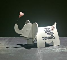 Items similar to Miniature Elephant Figurine with imprinted words of wisdom - Unique Gift - Mini Elephant Sculpture - Mini Ceramic Elephant on Etsy Handmade Baby Gifts, Handmade Shop, Handmade Items, Small Elephant, Ceramic Elephant, Elephant Sculpture, Baby Hamper, Elephant Figurines, Ceramic Clay