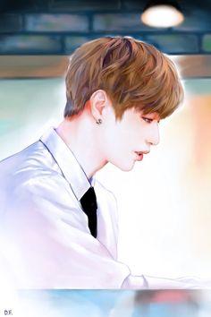 Kang Daniel  #wannaone  #kangdaniel Daniel K, Husband, Fan Art, Beautiful, Homework, Illustrations, Drawing, Wallpaper, Anime