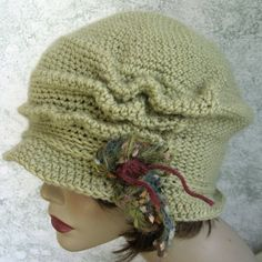 Crochet Pattern Womens FLapper Hat Brimmed With by kalliedesigns