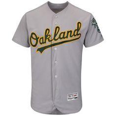 dc92d333999 Men s Oakland Athletics Majestic Gray Flexbase Authentic Collection Team Jersey  Baseball Jerseys