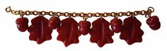 Vintage 1940s Oak Leaf and Acorn Bakelite Charm Bracelet on Etsy, $495.00