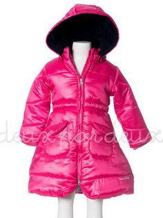 Deux Par Deux Little Girls Rose Puffer Winter Coat. Little girls sizes. NOW ON SALE