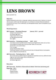 resume format 2017 examples - New Resume Format 2017