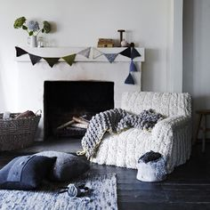 knitted couch cover? AMAZING